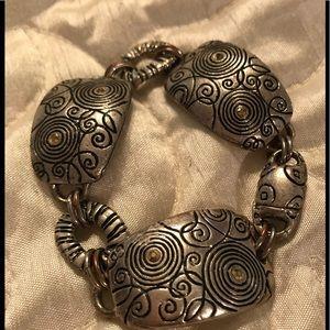 Chico's silver tone chunky bracelet